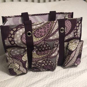 Thirty-one Tote Bag Carryall in Purple Paisley